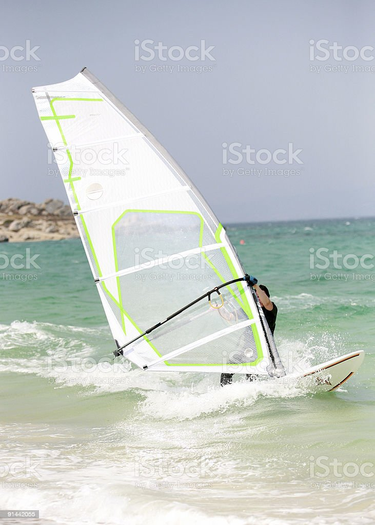 windsurfing in Naxos royalty-free stock photo