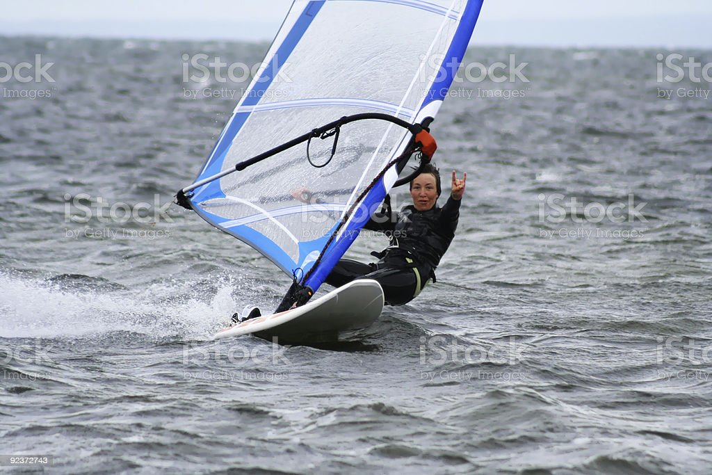 Windsurfing is easy royalty-free stock photo