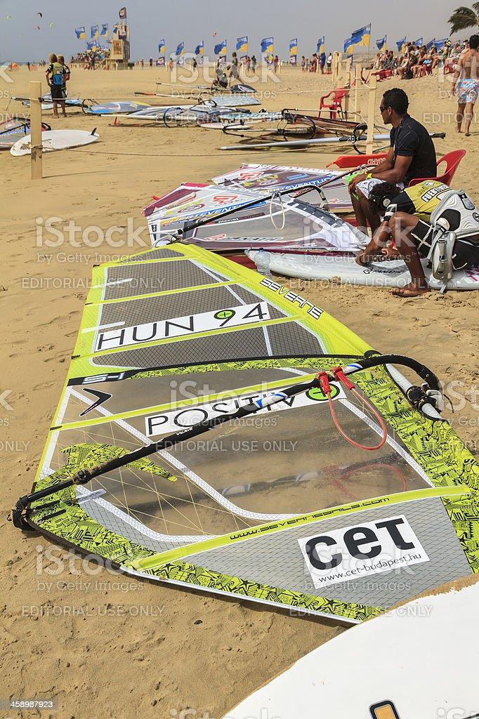 Windsurfing & Kiteboarding World Cup, Fuerteventura royalty-free stock photo