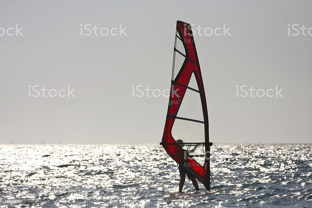 Windsurfing royalty-free stock photo