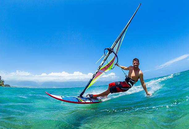windsurfe - esporte aquático - fotografias e filmes do acervo