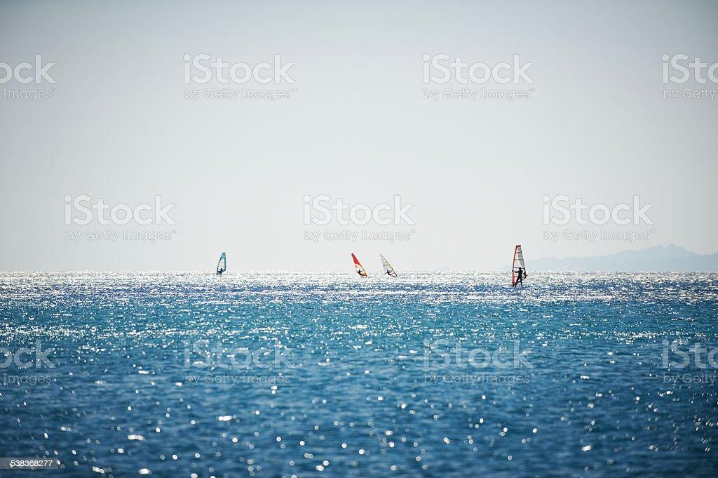 Windsurfing stock photo
