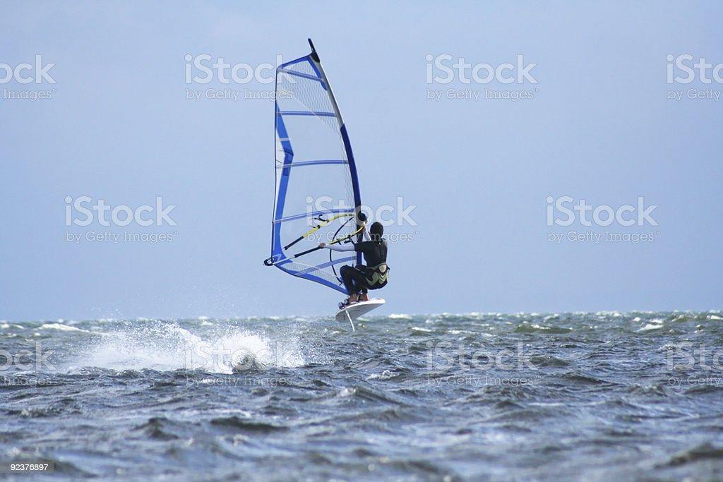 Windsurfing royalty-free stock photo