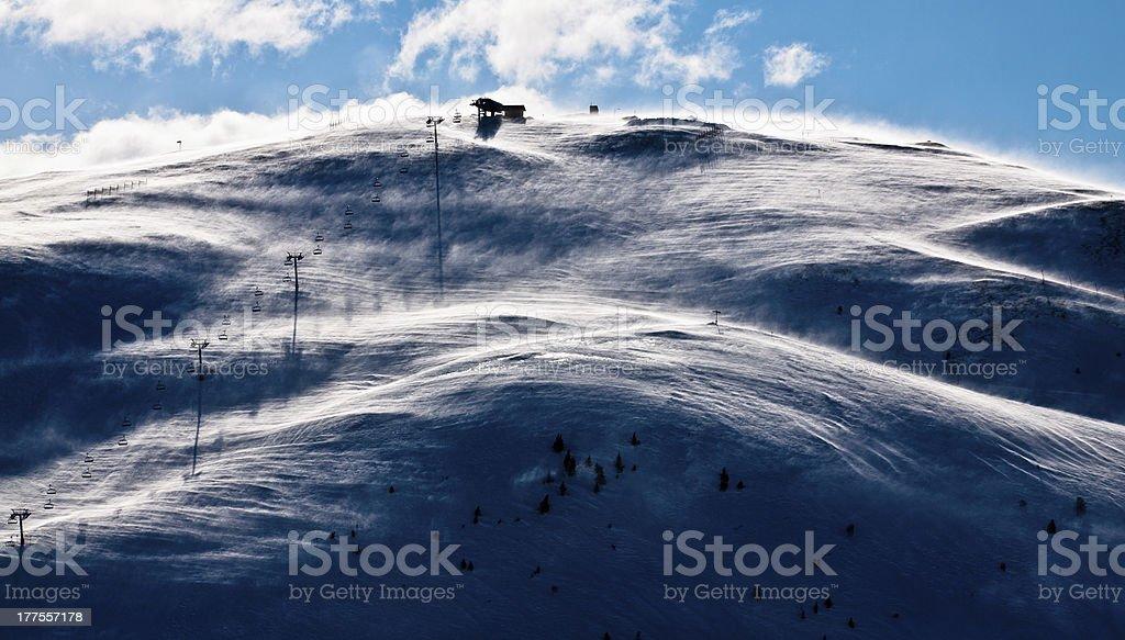 Windswept Morning Ski Slope foto