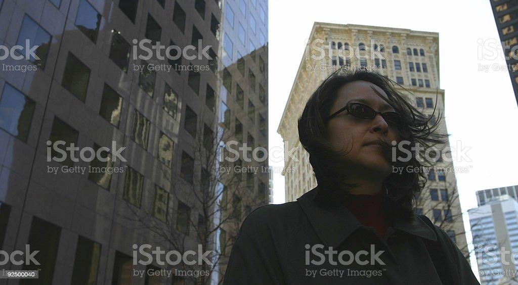 Windswept royalty-free stock photo