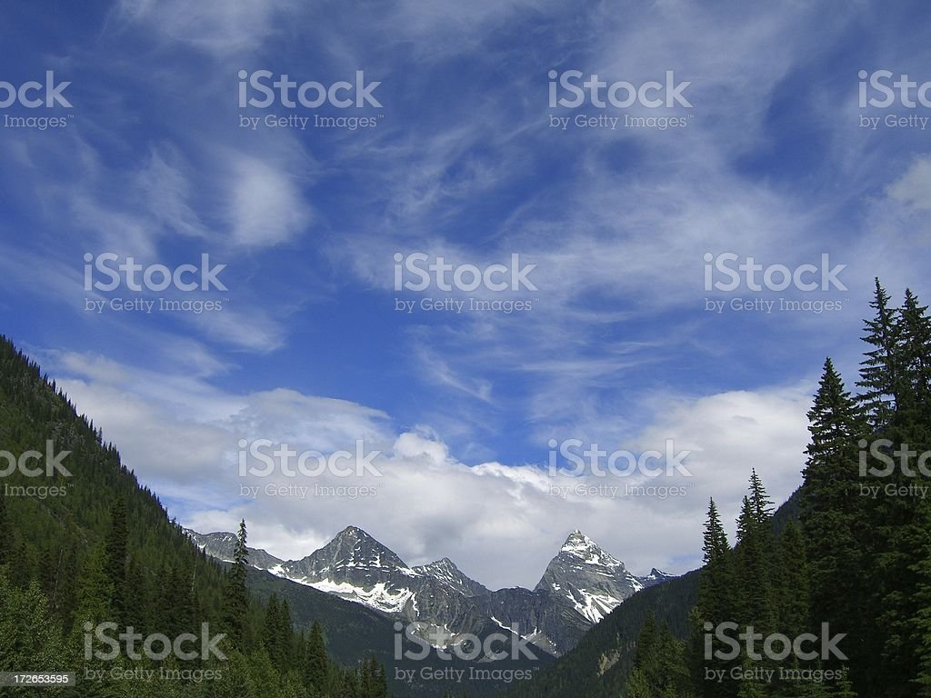 Windswept Sky And Mountains royalty-free stock photo