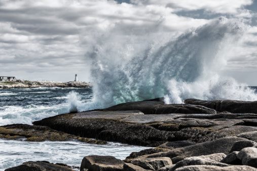 Windswept Surf at Peggys Cove