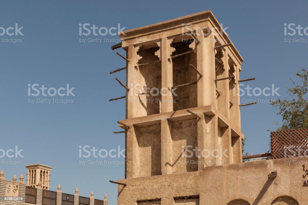 Windtower in Dubai stock photo