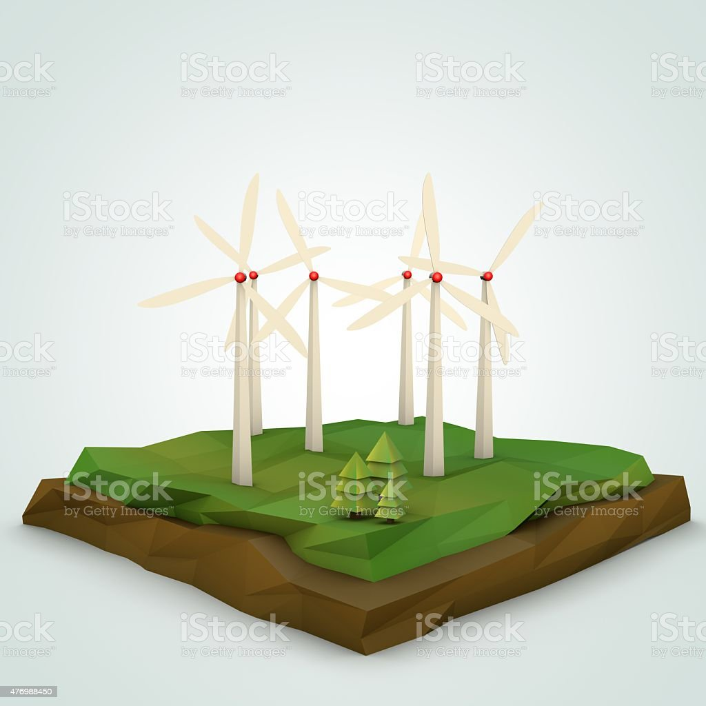 Windturbine Model Landscape Stock Photo & More Pictures of 2015   iStock