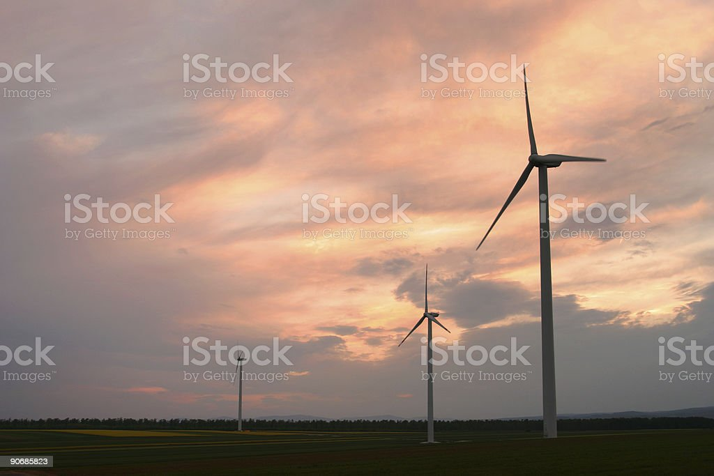 Windturbines 1 stock photo