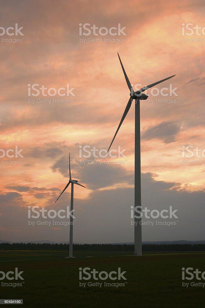 Windturbines 2 stock photo