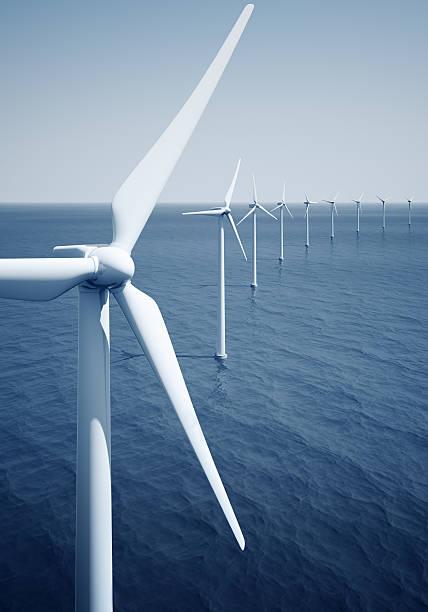 Windturbines auf das Meer – Foto