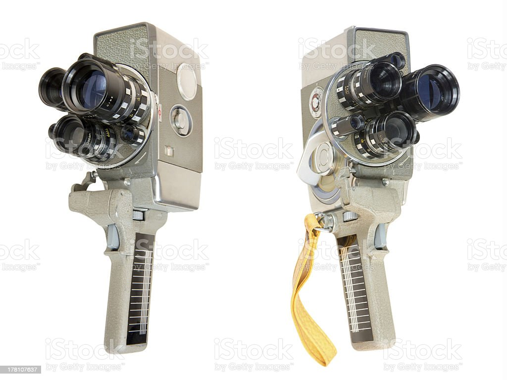Wind-up 16mm Movie Camera stock photo