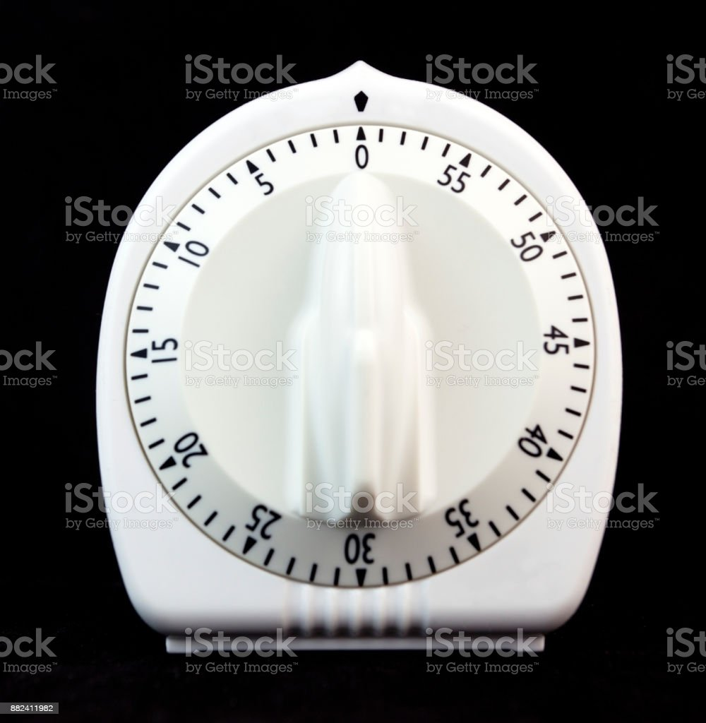 Wind-up Kitchen Timer stock photo
