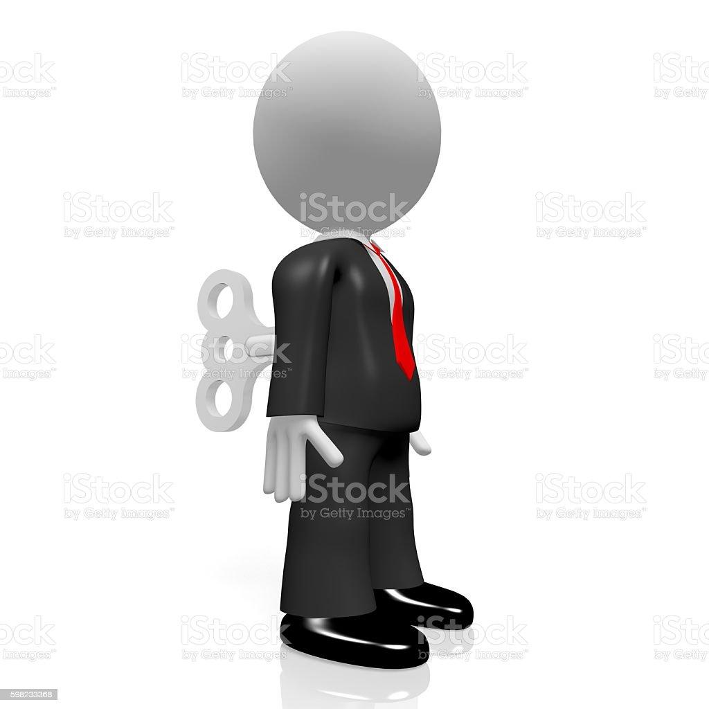 3 D Brinquedo de Corda foto royalty-free