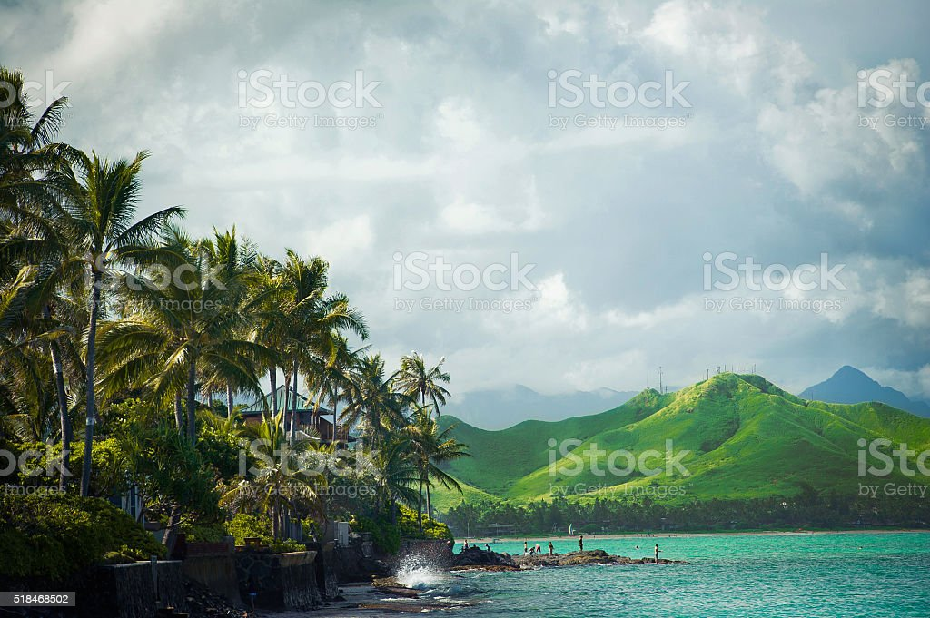 Windward coast of Oahu, Hawaii Vacation stock photo