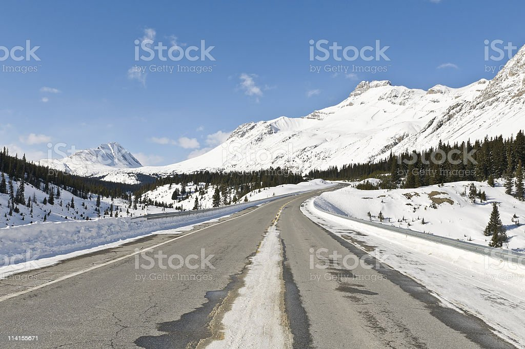 Windy back country road royalty-free stock photo