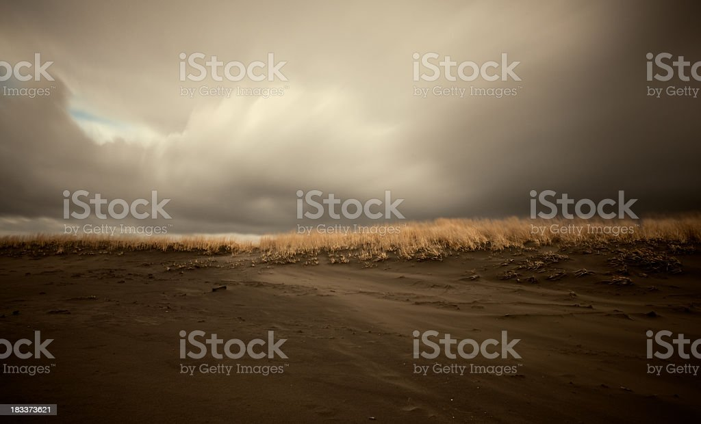 Windy Beach, Long Exposure royalty-free stock photo