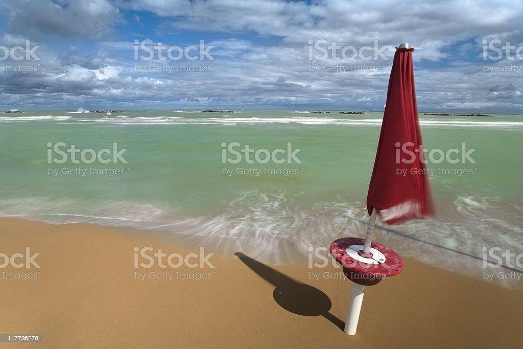 Windy beach royalty-free stock photo