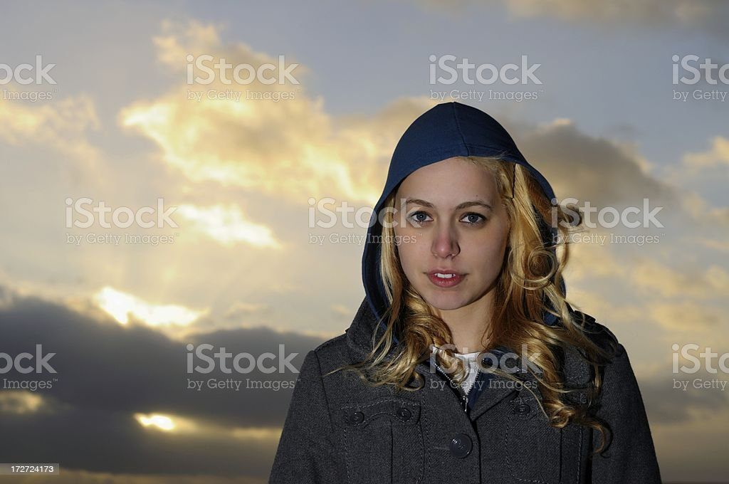 Windy Beauty royalty-free stock photo