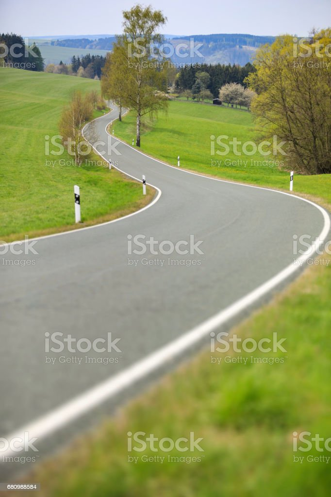 windy country road royalty-free stock photo