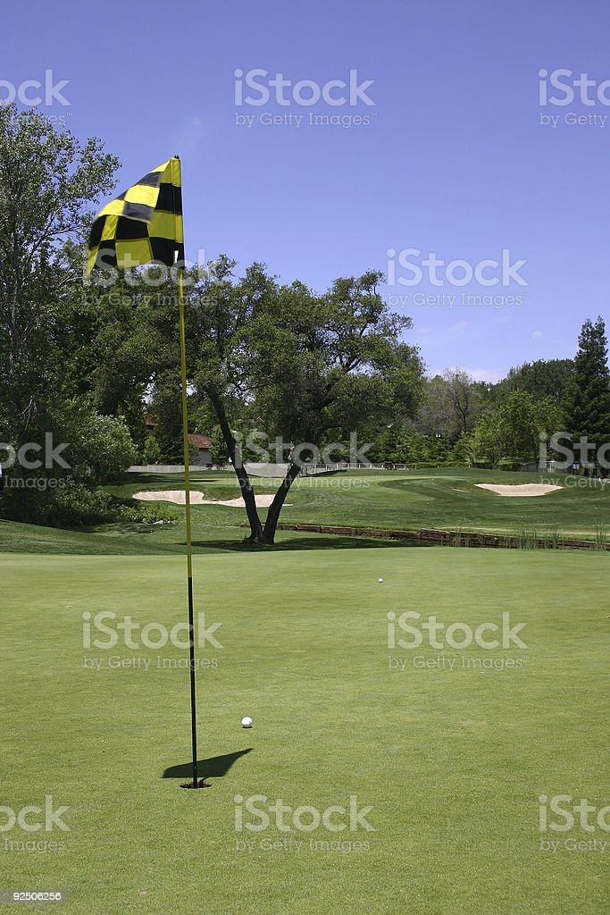 Windy Day Of Golf royalty-free stock photo