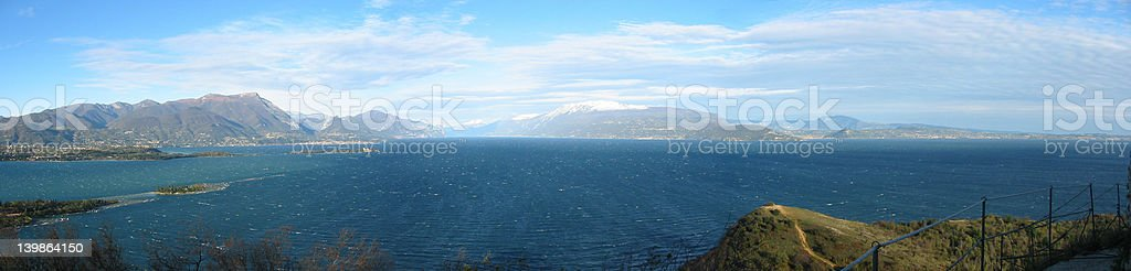 windy lake royalty-free stock photo