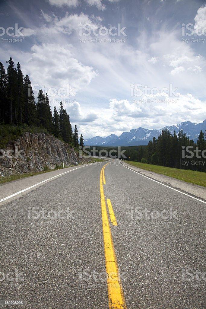 Windy Mountain Road royalty-free stock photo