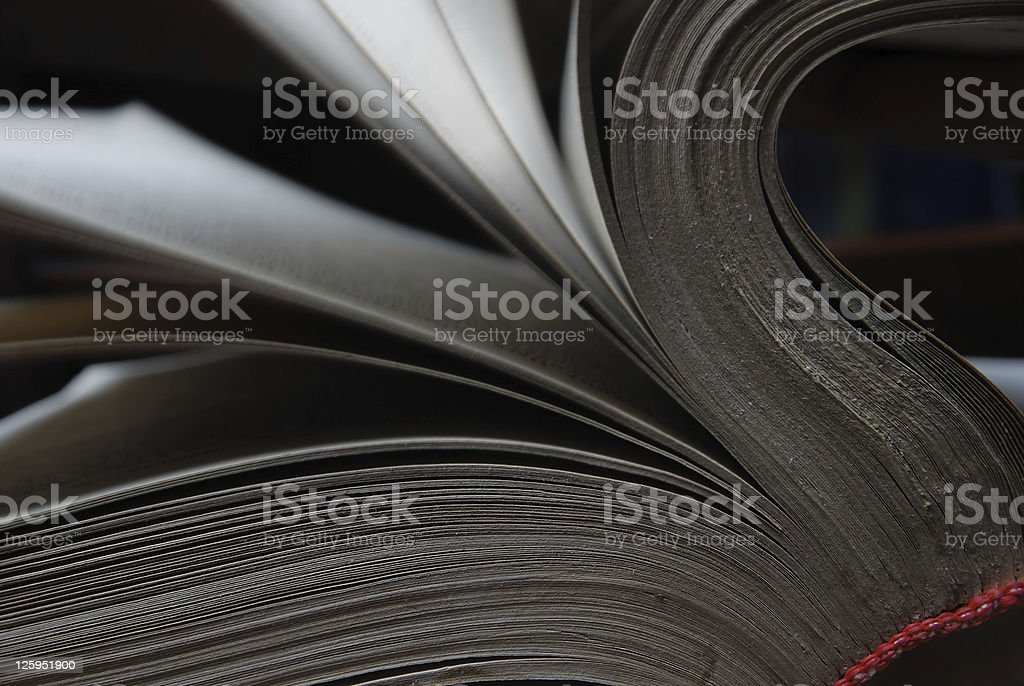 Windy pages stock photo