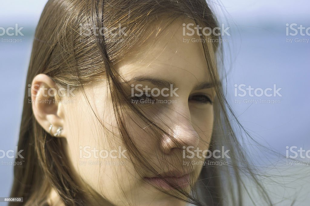windy portrait royalty-free stock photo