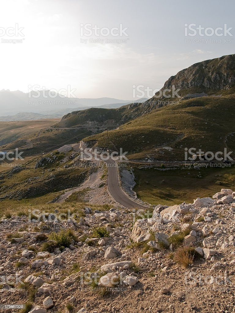 Windy road royalty-free stock photo