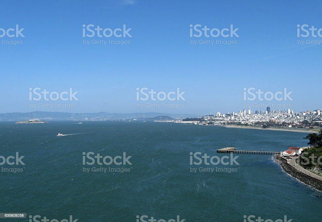 Windy San Francisco Bay stock photo