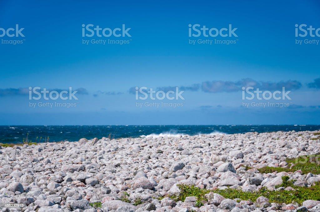 Windy west coast of Sweden stock photo