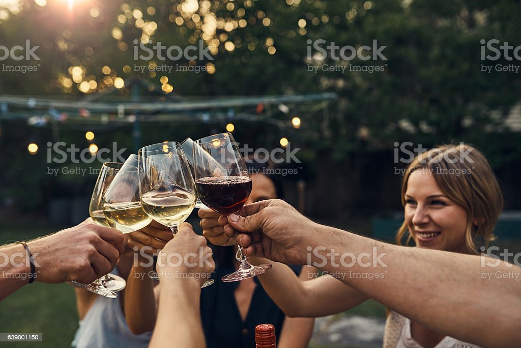 Wine a little, it'll make you feel better stock photo