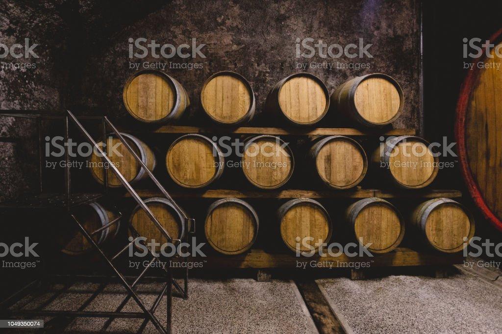 Wine Aging Process stock photo