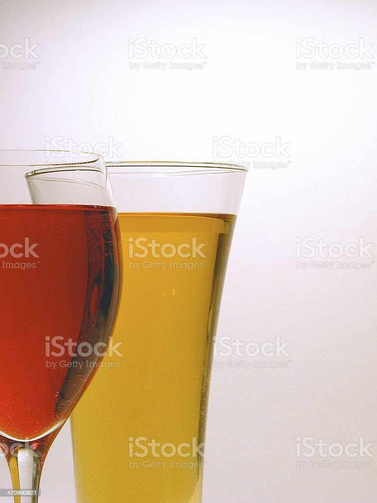 Wine and Beer - Vertical royalty-free stock photo