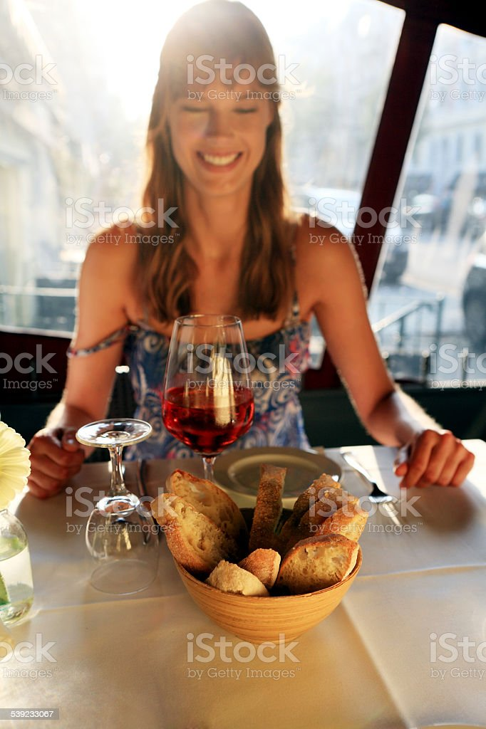 Wine and Bread royalty-free stock photo