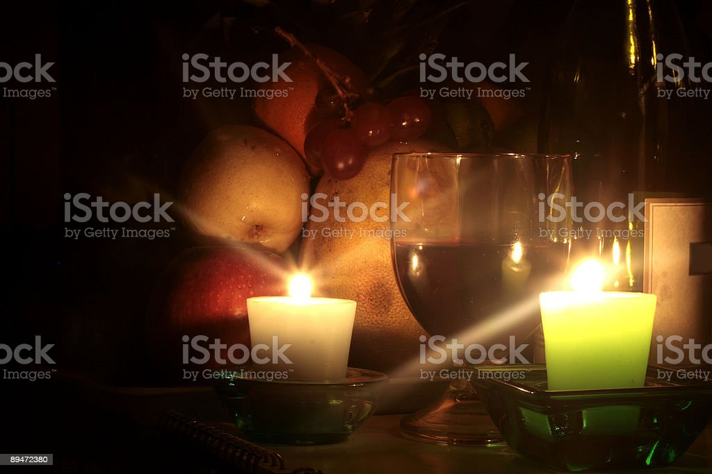 Wine and Candlelight royalty-free stock photo