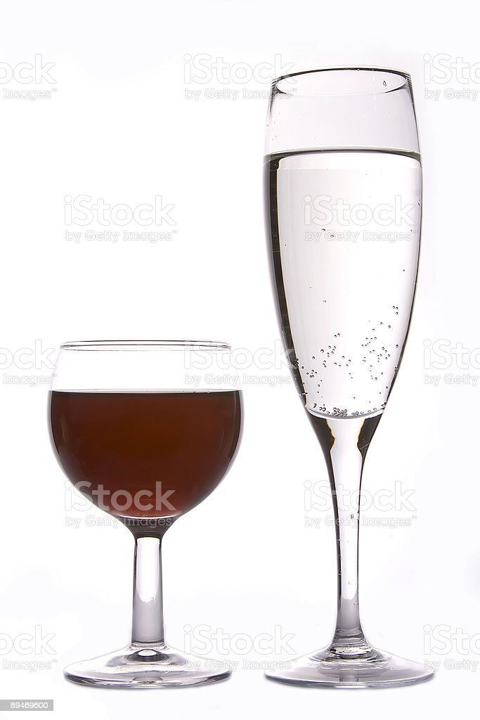 Wine and Champagne royalty-free stock photo