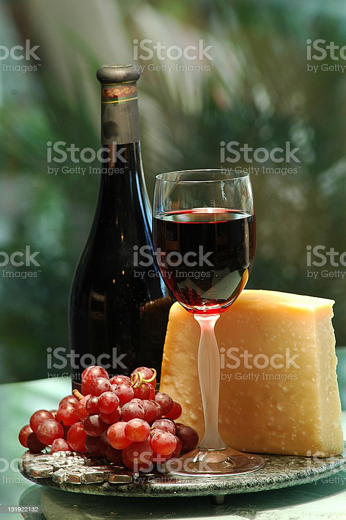 Wine and Cheese Wine and Cheese tasting After Work Stock Photo