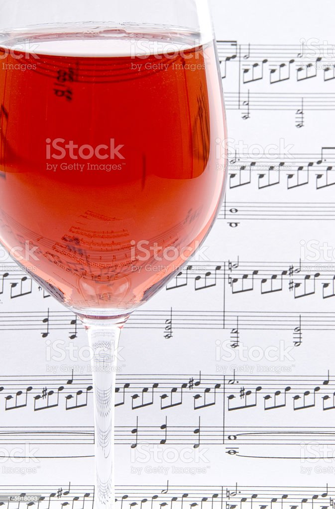 Wine And Classical Sheet Music Stock Photo - Download Image Now - iStock