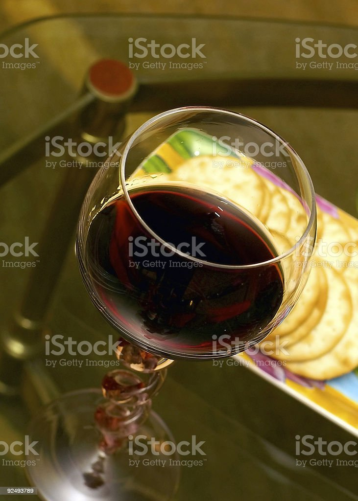 Wine and crackers royalty-free stock photo
