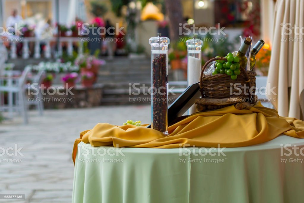 Wine and decoration royalty-free 스톡 사진