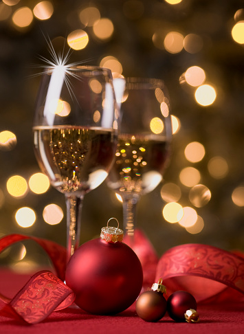 Wine And Defocused Lights Stock Photo - Download Image Now