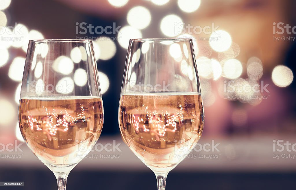Wine and dine stock photo