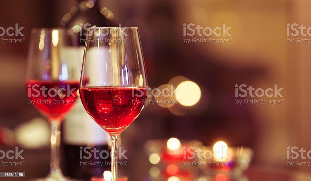 Wine and dine stock photo