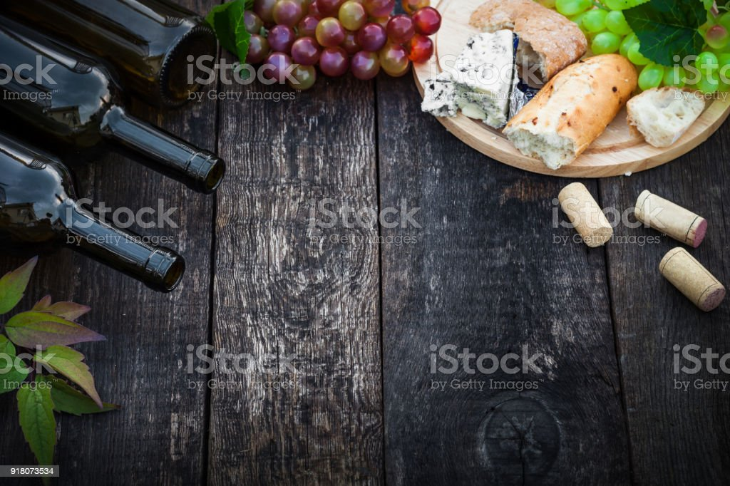 Wine and food concept stock photo