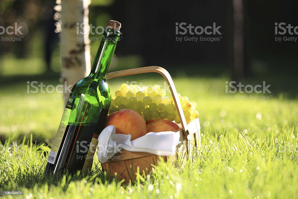 Wine and fruits royalty-free stock photo