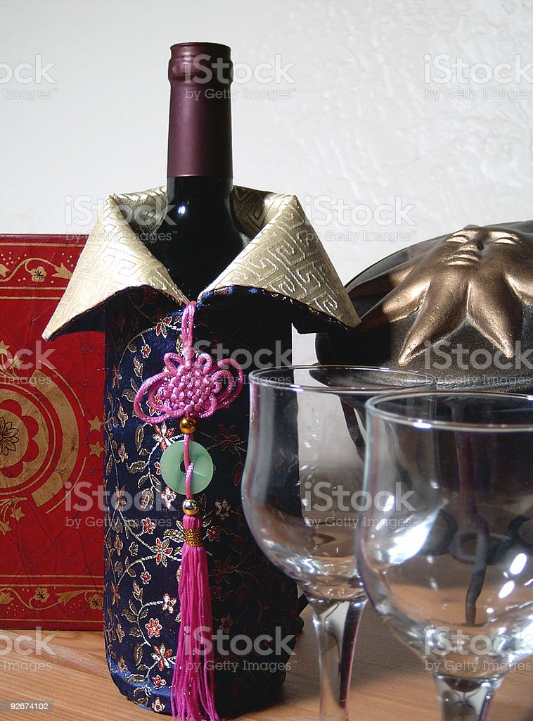 Wine and glass royalty-free stock photo