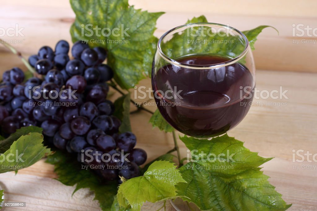 Wine and grape Fresh fruits Agriculture Stock Photo